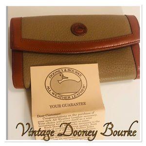 DOONEY & BOURKE VTG Checkbook Organizer Wallet